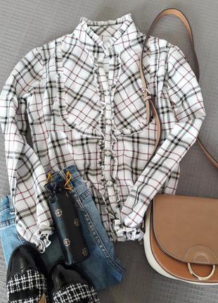 Рубашка/блуза в клетку от carla kops размер m