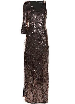 Платье в пол с пайетками, marciano guess