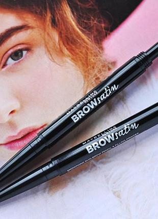 Карандаш-тени maybelline brow satin duo eyebrow pencil