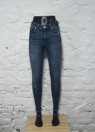 Стильные джинсы скинны высокая посадка от never denim