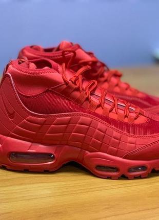 Шикарные мужские кроссовки nike air max 95 sneakerboot red (еврозима)