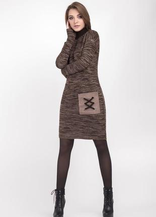 Стильное , тёплое платье , 42-44 европ. размер