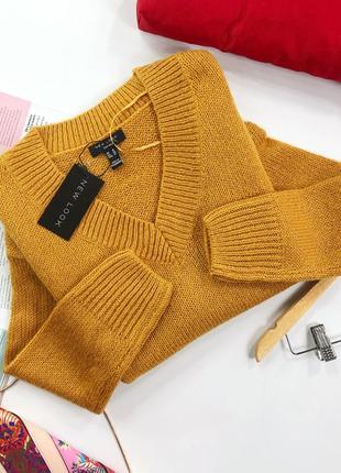 Стильный свитер с vвырезом newlook большой размер