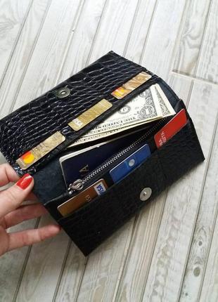 Кожаный кошелек. 100% натуральная кожа (италия)