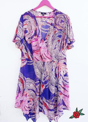 Шикарное платье миди прозрачное платье на лето большой размер