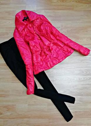 Яркая сочная необычная демисезонная куртка cinema donna - размер 44