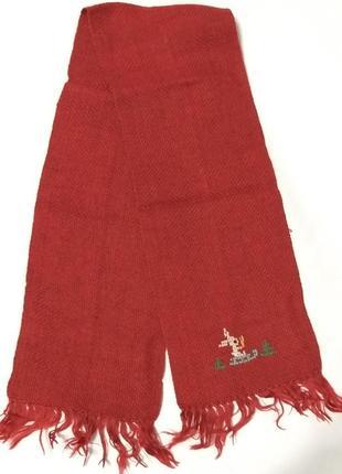 Детский красный шарф