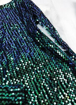 Розкішна смарагдова сукня в пайєтки \изумрудное вечернее платье в пайетки на новый год5