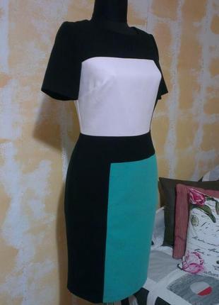 Стройнящее платье - футляр, офисное, ниже колен marks & spencer, супер качество!!!