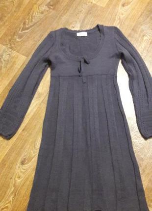 Вязаное платье. теплое платье