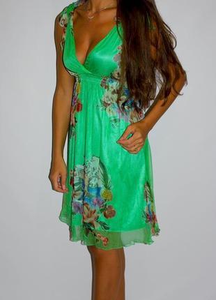Шёлковое платье 100%  цвет насыщеннее ! см доп фото
