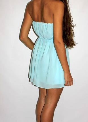 Платья - большой выбор (300ед ) - шифоновое мятное платье s-m3