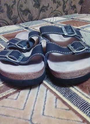 Кожаные шлепки,шлепанцы,сандали,ортопедические.бренд go soft оригинал 41р.2 фото