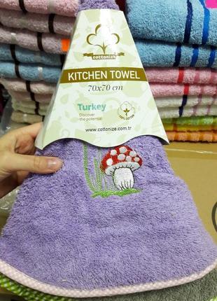 Супер плотное кухонное полотенце с петелькой турция хлопок