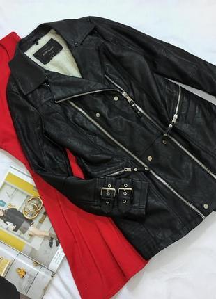 Прекрасная куртка-косуха на меху
