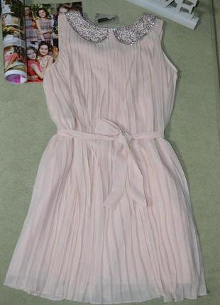 🍇 нарядное плиссированное платье redherring! 🍉размер 14 ( наш 48)