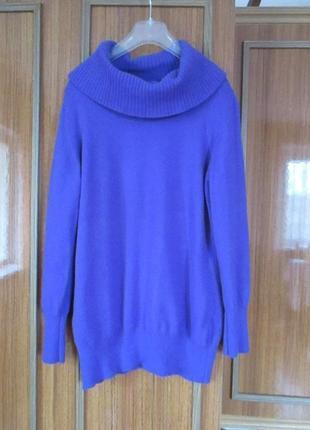 Шикарный удлиненный свитер roberto sarto merino extra fine!
