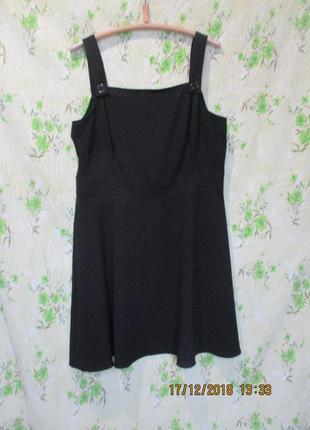 Черный сарафан/платье большой размер uk 18/наш 52