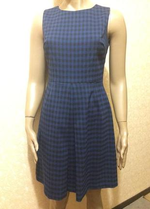Платье-сарафан синее в клетку dorothy perkins