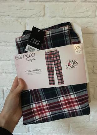 Пижамные штаны в клетку шотландскую штани в клітинку новогодний подарокз