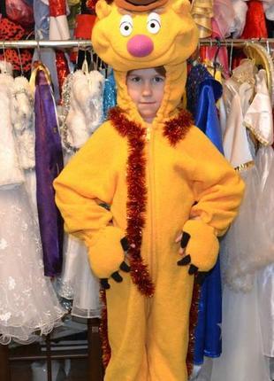 Детский карнавальный костюм мишка с мапет шоу,