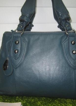 Люкс! роскошная кожаная сумка английского бренда tula