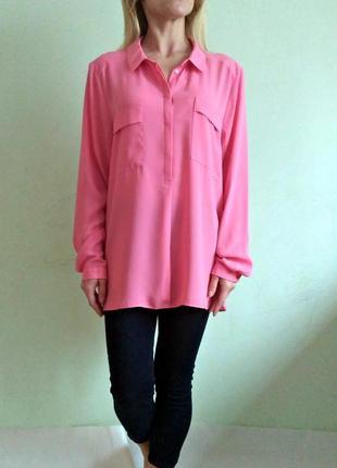 Розовая блуза с длинными рукавами 20