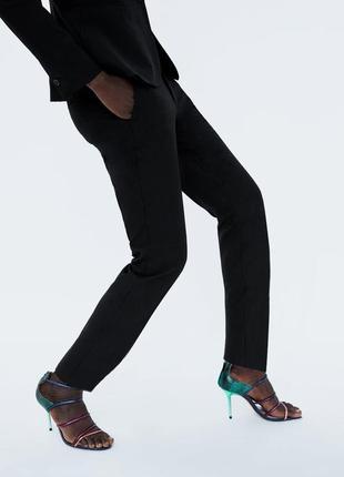 Офисные зауженные брюки zara