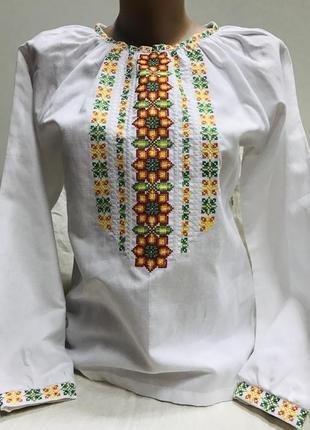 Классическая блуза с вышивкой вышиванка вишиванка 100% хлопок размер хс, с