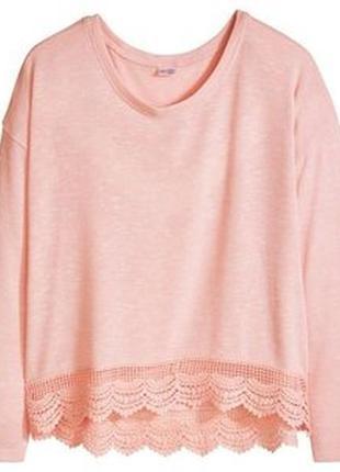 Кружевной реглан жемчужно-розового цвета esmara® lingerie, германия