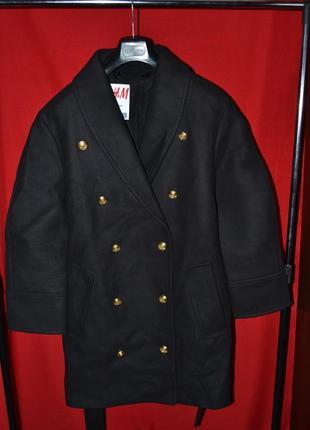 Пальто с поясом balmain x h&m