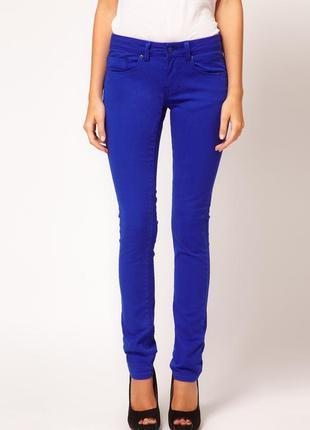 Брюки джинсы узкие синие скини house, р. м
