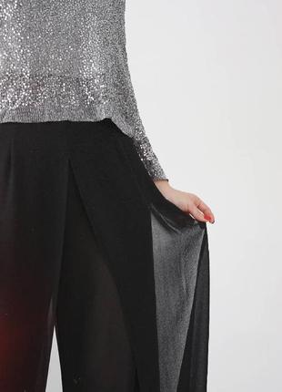 Шифоновые макси брюки палаццо