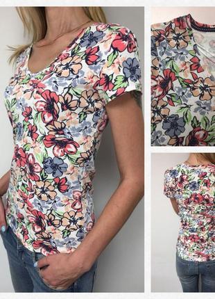 Шикарная футболка от британского бренда tu)) cotton