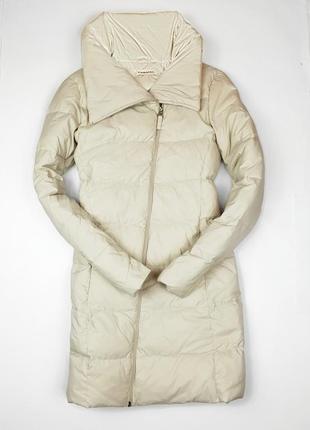 Куртка пуховик бежевый пух