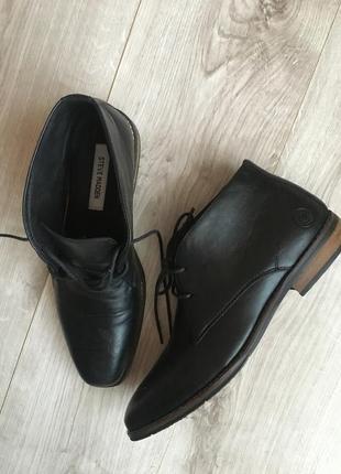 Кожаные ботинки туфли \ мужские туфли steve madden, стив мадден