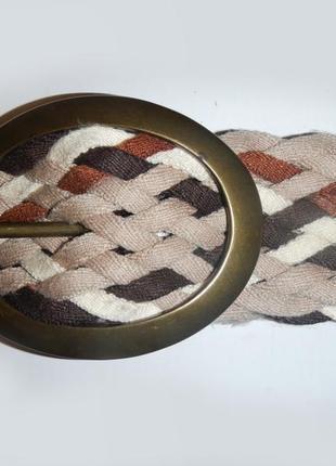 Ремень пояс широкий плетеный