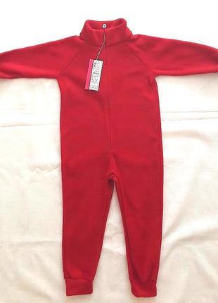 Флисовый комбез, поддева, пижама, размер 92-122