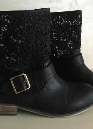 Кожаные полусапожки ботинки    c  m  paris   35 размер   по стельке 22.5см