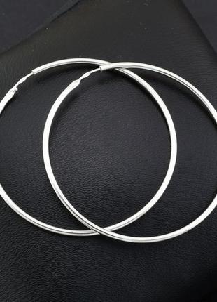 Серьги серебряные сережки кольца шарнир 2005