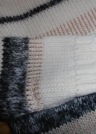 Тёплое платье в полоску, вязка, m&s3