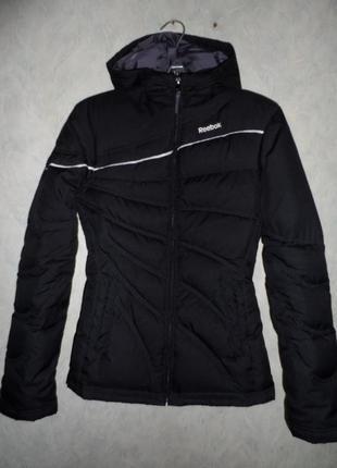 Пуховик, куртка reebok, оригинал, размер xs