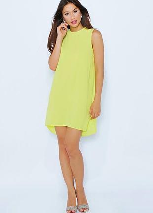 Яркое летнее платье футляр цвета лайма от dorothy perkins