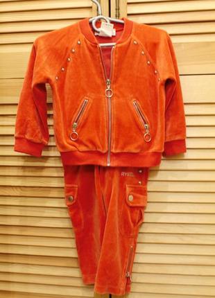 Спортивный велюровый костюм sonia rykiel на 2 года