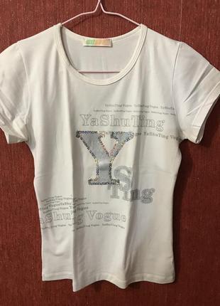 Белая футболка 100% хлопок