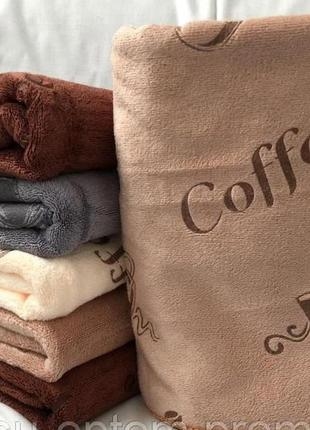 Комплект кухонных полотенец кофе 25х50 см 4 шт.