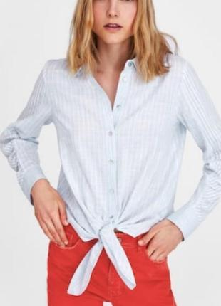 Крутая рубашка в полоску, zara