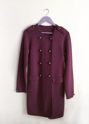Стильное вязаное платье-кардиган