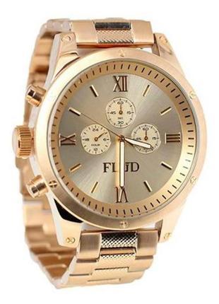 Часы flud, часи,годинник, золотистий