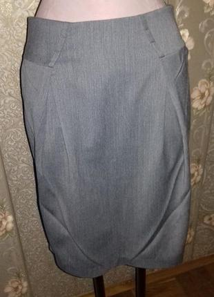 Классическая юбка с оригинальными складками